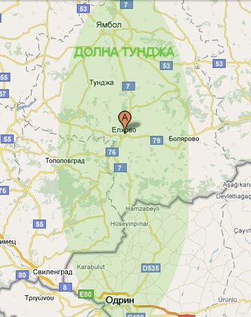 Mestopolozhenie Na Grad Elhovo Blgariya